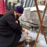 Чин освящения воды на ключике по Кособродской дороге.